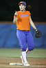 Florida junior shortstop Megan Bush talks with a teammate during the Gators' 8-4 exhibition game win against the Santa Fe College Saints on Thursday, November 5, 2009 at Katie Seashole Pressly Softball Stadium in Gainesville, Fla. / Gator Country photo by Tim Casey