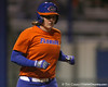 Florida senior third baseman Corrie Brooks runs to first base during the Gators' 8-4 exhibition game win against the Santa Fe College Saints on Thursday, November 5, 2009 at Katie Seashole Pressly Softball Stadium in Gainesville, Fla. / Gator Country photo by Tim Casey