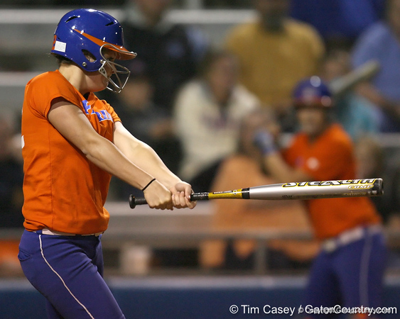 Florida freshman Brittany Walker bats during the Gators' 8-4 exhibition game win against the Santa Fe College Saints on Thursday, November 5, 2009 at Katie Seashole Pressly Softball Stadium in Gainesville, Fla. / Gator Country photo by Tim Casey