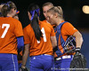 Florida junior catcher Tiffany DeFelice talks to teammates during the Gators' 8-4 exhibition game win against the Santa Fe College Saints on Thursday, November 5, 2009 at Katie Seashole Pressly Softball Stadium in Gainesville, Fla. / Gator Country photo by Tim Casey