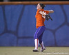 Florida freshman Brittany Walker throws the ball from left field during the Gators' 8-4 exhibition game win against the Santa Fe College Saints on Thursday, November 5, 2009 at Katie Seashole Pressly Softball Stadium in Gainesville, Fla. / Gator Country photo by Tim Casey