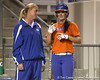 Florida assistant coach Jenny Gladding talks with Ensley Gammel during the Gators' 8-4 exhibition game win against the Santa Fe College Saints on Thursday, November 5, 2009 at Katie Seashole Pressly Softball Stadium in Gainesville, Fla. / Gator Country photo by Tim Casey