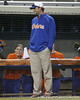 Florida volunteer coach Coy Adkins watches during the Gators' 8-4 exhibition game win against the Santa Fe College Saints on Thursday, November 5, 2009 at Katie Seashole Pressly Softball Stadium in Gainesville, Fla. / Gator Country photo by Tim Casey