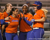 Florida freshman Brittany Schutte scores on a home run during the Gators' 8-4 exhibition game win against the Santa Fe College Saints on Thursday, November 5, 2009 at Katie Seashole Pressly Softball Stadium in Gainesville, Fla. / Gator Country photo by Tim Casey