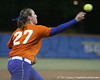 Florida senior third baseman Corrie Brooks throws to first base during the Gators' 8-4 exhibition game win against the Santa Fe College Saints on Thursday, November 5, 2009 at Katie Seashole Pressly Softball Stadium in Gainesville, Fla. / Gator Country photo by Tim Casey