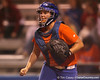 Florida junior catcher Tiffany DeFelice celebrates after the last out of the seventh inning during the Gators' 8-4 exhibition game win against the Santa Fe College Saints on Thursday, November 5, 2009 at Katie Seashole Pressly Softball Stadium in Gainesville, Fla. / Gator Country photo by Tim Casey