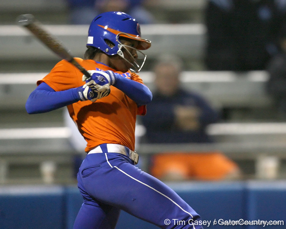 Florida sophomore Michelle Moultrie bats during the Gators' 8-4 exhibition game win against the Santa Fe College Saints on Thursday, November 5, 2009 at Katie Seashole Pressly Softball Stadium in Gainesville, Fla. / Gator Country photo by Tim Casey