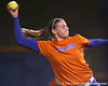 Florida freshman pitcher Erin Schuppert winds up during the Gators' 8-4 exhibition game win against the Santa Fe College Saints on Thursday, November 5, 2009 at Katie Seashole Pressly Softball Stadium in Gainesville, Fla. / Gator Country photo by Tim Casey