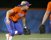 Florida junior shortstop Megan Bush watches the ball during the Gators' 8-4 exhibition game win against the Santa Fe College Saints on Thursday, November 5, 2009 at Katie Seashole Pressly Softball Stadium in Gainesville, Fla. / Gator Country photo by Tim Casey