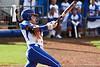Florida senior Kelsey Bruder follows through on a swing during the Gator's 9-1 victory against the Oregon Ducks in the first day of the NCAA Super Regionals  on Friday, May 27, 2011 at Katie Seashole Pressly Stadium in Gainesville, Fla. / photo by Rob Foldy