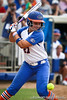 Florida freshman shortstop Cheyenne Coyle gets hit by a pitch during the Gator's 9-1 victory against the Oregon Ducks in the first day of the NCAA Super Regionals  on Friday, May 27, 2011 at Katie Seashole Pressly Stadium in Gainesville, Fla. / photo by Rob Foldy