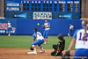 Florida freshman shortstop Cheyenne Coyle throws to senior second baseman Aja Paculba during the Gator's 9-1 victory against the Oregon Ducks in the first day of the NCAA Super Regionals  on Friday, May 27, 2011 at Katie Seashole Pressly Stadium in Gainesville, Fla. / photo by Rob Foldy