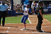Florida junior center fielder Michelle Moultrie scores a run during the Gator's 9-1 victory against the Oregon Ducks in the first day of the NCAA Super Regionals  on Friday, May 27, 2011 at Katie Seashole Pressly Stadium in Gainesville, Fla. / photo by Rob Foldy
