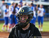 The Oregon catcher returns to the dugout after the Gator's 9-1 victory against the Oregon Ducks in the first day of the NCAA Super Regionals  on Friday, May 27, 2011 at Katie Seashole Pressly Stadium in Gainesville, Fla. / photo by Rob Foldy