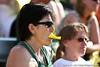 Oregon fans anxiously looks on from the stands during the Gator's 9-1 victory against the Oregon Ducks in the first day of the NCAA Super Regionals  on Friday, May 27, 2011 at Katie Seashole Pressly Stadium in Gainesville, Fla. / photo by Rob Foldy