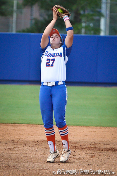 Florida freshman shortstop Cheyenne Coyle records an out during the Gator's 9-1 victory against the Oregon Ducks in the first day of the NCAA Super Regionals  on Friday, May 27, 2011 at Katie Seashole Pressly Stadium in Gainesville, Fla. / photo by Rob Foldy