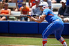 Florida senior catcher Tiffany DeFelice sets up for a bunt during the Gator's 2-3 loss to the UCLA Bruins on Sunday, May 22, 2011 at Katie Seashole Pressly Stadium in Gainesville, Fla. / photo by Rob Foldy