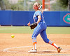 Florida senior pitcher Stephanie Brombacher throws a pitch during the Gators' 3-2 loss to the UCLA Bruins in the NCAA Regionals on Sunday, May 22, 2011 at Katie Seashole Pressly Softball Stadium in Gainesville, Fla. / Gator Country photo by Tim Casey