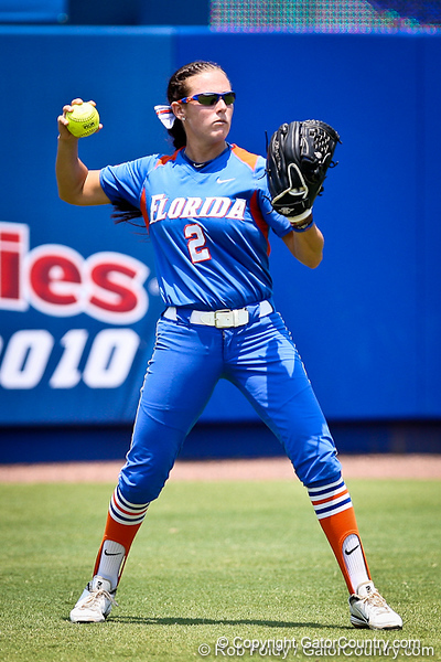 Florida senior Kelsey Bruder records an out during the Gator's 2-3 loss to the UCLA Bruins on Sunday, May 22, 2011 at Katie Seashole Pressly Stadium in Gainesville, Fla. / photo by Rob Foldy