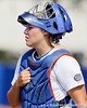Florida senior catcher Tiffany DeFelice walks to the dugout during the Gators' 11-3 win against the UCLA Bruins in the NCAA Regional final on Sunday, May 22, 2011 at Katie Seashole Pressly Softball Stadium in Gainesville, Fla. / Gator Country photo by Tim Casey