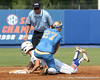 Florida sophomore Ensley Gammel steals second base during the Gators' 11-3 win against the UCLA Bruins in the NCAA Regional final on Sunday, May 22, 2011 at Katie Seashole Pressly Softball Stadium in Gainesville, Fla. / Gator Country photo by Tim Casey