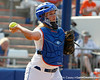 Florida senior catcher Tiffany DeFelice throws the ball around the horn after a strikeout during the Gators' 11-3 win against the UCLA Bruins in the NCAA Regional final on Sunday, May 22, 2011 at Katie Seashole Pressly Softball Stadium in Gainesville, Fla. / Gator Country photo by Tim Casey