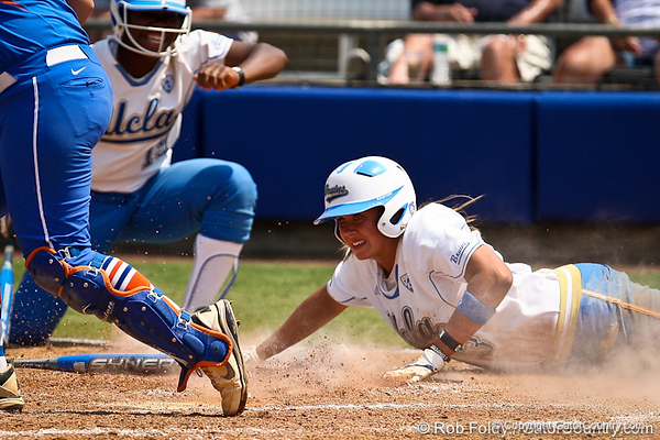 UCLA's GiOnna DiSalvatore slides into home plate during the Gator's 2-3 loss to the UCLA Bruins on Sunday, May 22, 2011 at Katie Seashole Pressly Stadium in Gainesville, Fla. / photo by Rob Foldy