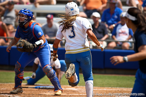 UCLA's GiOnna DiSalvatore runs in to score during the Gator's 2-3 loss to the Bruins on Sunday, May 22, 2011 at Katie Seashole Pressly Stadium in Gainesville, Fla. / photo by Rob Foldy