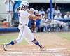 Florida freshman shortstop Cheyenne Coyle follows through on a home run during the Gators' 11-3 win against the UCLA Bruins in the NCAA Regional final on Sunday, May 22, 2011 at Katie Seashole Pressly Softball Stadium in Gainesville, Fla. / Gator Country photo by Tim Casey