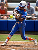 Florida junior center fielder Michelle Moultrie swings at the ball during the Gator's 2-3 loss to the UCLA Bruins on Sunday, May 22, 2011 at Katie Seashole Pressly Stadium in Gainesville, Fla. / photo by Rob Foldy