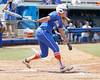 Florida sophomore Brittany Schutte watches a fly ball during the Gators' 3-2 loss to the UCLA Bruins in the NCAA Regionals on Sunday, May 22, 2011 at Katie Seashole Pressly Softball Stadium in Gainesville, Fla. / Gator Country photo by Tim Casey