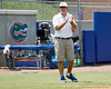 Florida head coach Tim Walton encourages the batter during the Gators' 3-2 loss to the UCLA Bruins in the NCAA Regionals on Sunday, May 22, 2011 at Katie Seashole Pressly Softball Stadium in Gainesville, Fla. / Gator Country photo by Tim Casey