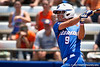 Florida freshman Kasey Fagan follows through with a swing during the Gator's 2-3 loss to the UCLA Bruins on Sunday, May 22, 2011 at Katie Seashole Pressly Stadium in Gainesville, Fla. / photo by Rob Foldy
