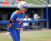 Florida senior Kelsey Bruder reacts after getting hit by a pitch during the Gators' 3-2 loss to the UCLA Bruins in the NCAA Regionals on Sunday, May 22, 2011 at Katie Seashole Pressly Softball Stadium in Gainesville, Fla. / Gator Country photo by Tim Casey