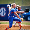 Florida senior pitcher Stephanie Brombacher winds up for a pitch during the Gator's 2-3 loss to the UCLA Bruins on Sunday, May 22, 2011 at Katie Seashole Pressly Stadium in Gainesville, Fla. / photo by Rob Foldy