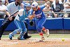 Florida senior catcher Tiffany DeFelice runs out a bunt during the Gators' 3-2 loss to the UCLA Bruins in the NCAA Regionals on Sunday, May 22, 2011 at Katie Seashole Pressly Softball Stadium in Gainesville, Fla. / Gator Country photo by Tim Casey