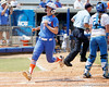 Florida junior Lauren Heil scores on a sacrifice fly during the Gators' 3-2 loss to the UCLA Bruins in the NCAA Regionals on Sunday, May 22, 2011 at Katie Seashole Pressly Softball Stadium in Gainesville, Fla. / Gator Country photo by Tim Casey