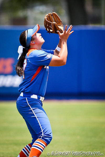 Florida freshman shortstop Cheyenne Coyle records an out during the Gator's 2-3 loss to the UCLA Bruins on Sunday, May 22, 2011 at Katie Seashole Pressly Stadium in Gainesville, Fla. / photo by Rob Foldy
