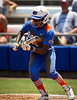 Florida junior center fielder Michelle Moultrie sets up to bunt during the Gator's 2-3 loss to the UCLA Bruins on Sunday, May 22, 2011 at Katie Seashole Pressly Stadium in Gainesville, Fla. / photo by Rob Foldy