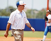 Florida head coach Tim Walton returns to the dugout during the Gators' 3-2 loss to the UCLA Bruins in the NCAA Regionals on Sunday, May 22, 2011 at Katie Seashole Pressly Softball Stadium in Gainesville, Fla. / Gator Country photo by Tim Casey