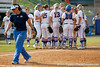 Florida players celebrate after the Gators' 11-3 win against the UCLA Bruins in the NCAA Regional final on Sunday, May 22, 2011 at Katie Seashole Pressly Softball Stadium in Gainesville, Fla. / Gator Country photo by Tim Casey
