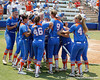 Florida senior catcher Tiffany DeFelice gets mobbed by teammates after driving in a run during the Gators' 3-2 loss to the UCLA Bruins in the NCAA Regionals on Sunday, May 22, 2011 at Katie Seashole Pressly Softball Stadium in Gainesville, Fla. / Gator Country photo by Tim Casey