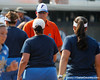 Florida head coach Tim Walton shakes hands with UCLA coaches after the Gators' 11-3 win against the UCLA Bruins in the NCAA Regional final on Sunday, May 22, 2011 at Katie Seashole Pressly Softball Stadium in Gainesville, Fla. / Gator Country photo by Tim Casey