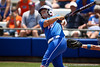 Florida senior catcher Tiffany DeFelice watches the ball during the Gator's 2-3 loss to the UCLA Bruins on Sunday, May 22, 2011 at Katie Seashole Pressly Stadium in Gainesville, Fla. / photo by Rob Foldy