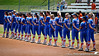 Florida lines up for the National Anthem before the Gator's 2-3 loss to the UCLA Bruins on Sunday, May 22, 2011 at Katie Seashole Pressly Stadium in Gainesville, Fla. / photo by Rob Foldy