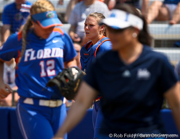 during the Gator's 2-3 loss to the UCLA Bruins on Sunday, May 22, 2011 at Katie Seashole Pressly Stadium in Gainesville, Fla. / photo by Rob Foldy