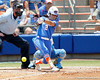 Florida senior Kelsey Bruder drives a foul ball down the first base line during the Gators' 3-2 loss to the UCLA Bruins in the NCAA Regionals on Sunday, May 22, 2011 at Katie Seashole Pressly Softball Stadium in Gainesville, Fla. / Gator Country photo by Tim Casey
