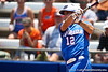 Florida senior first baseman Megan Bush watches a hit during the Gator's 2-3 loss to the UCLA Bruins on Sunday, May 22, 2011 at Katie Seashole Pressly Stadium in Gainesville, Fla. / photo by Rob Foldy