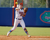 Florida freshman shortstop Cheyenne Coyle throws out a runner at first base during the Gators' 11-3 win against the UCLA Bruins in the NCAA Regional final on Sunday, May 22, 2011 at Katie Seashole Pressly Softball Stadium in Gainesville, Fla. / Gator Country photo by Tim Casey