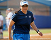 UCLA head coach Kelly Inouye-Perez walks off of the field after the Gators' 11-3 win against the Bruins in the NCAA Regional final on Sunday, May 22, 2011 at Katie Seashole Pressly Softball Stadium in Gainesville, Fla. / Gator Country photo by Tim Casey